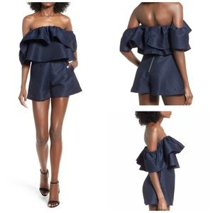 Keepsake the Label Navy Magnolia Romper